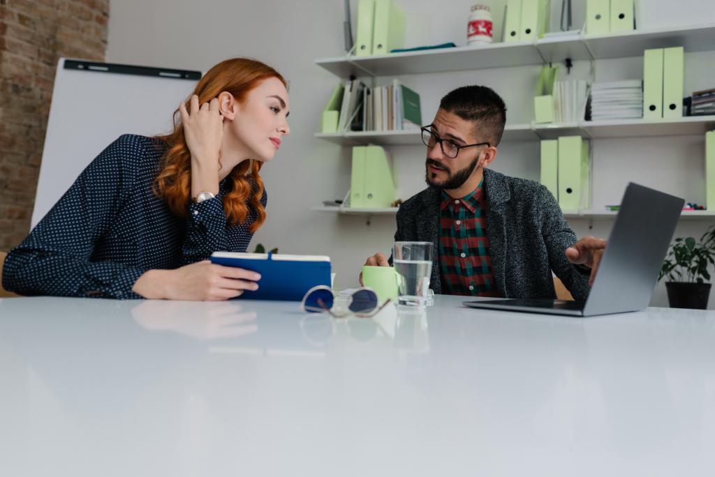 Recruiter assessing employee motivation