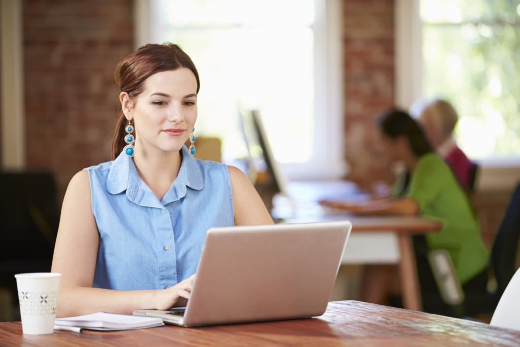 Woman completing temperament assessment