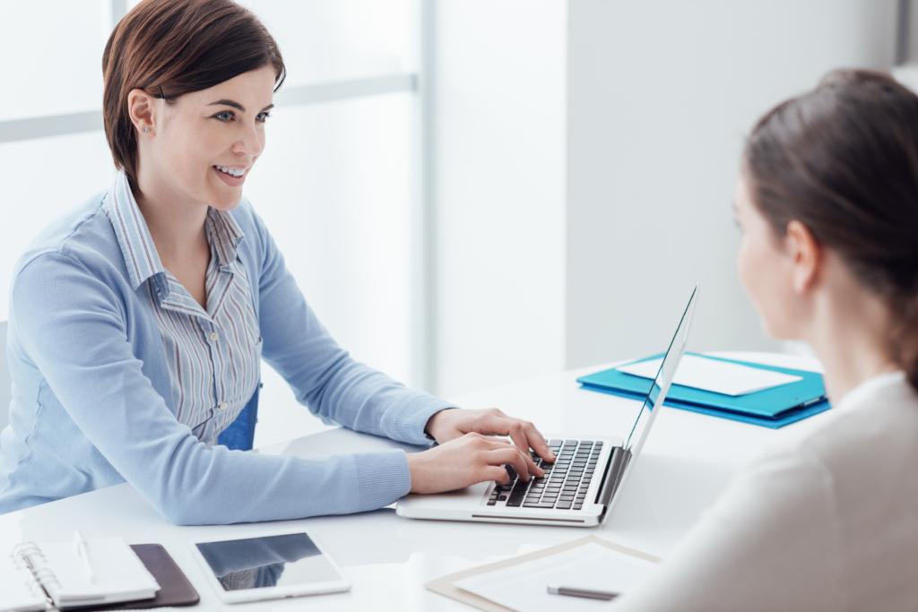 Recruiter utilising behavioural interviewing