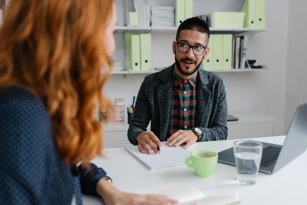 Recruiter assessing future employee behaviour